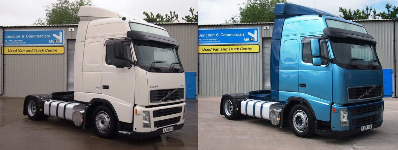 Volvo FH12 420 Globetrotter 4x2 Low Height Tractor YJ05 FUA