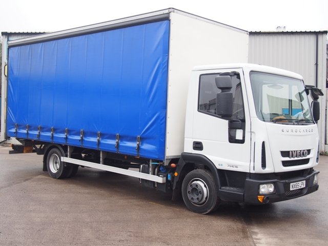Iveco EuroCargo 75 E16 20 Foot 6ins Curtain Taillift NX65 LPV